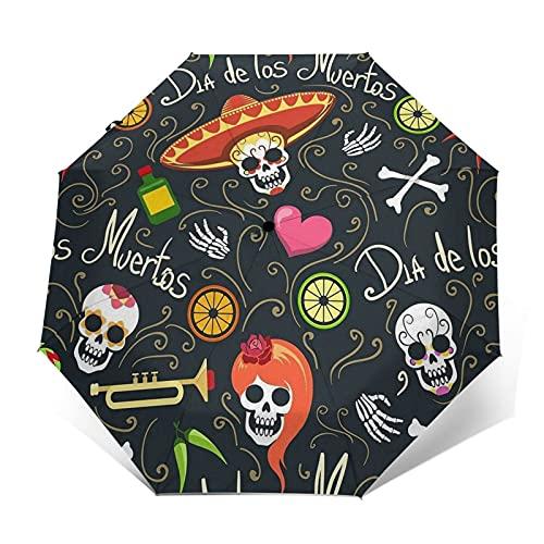 fepeng Dead Seaman Paraguas automático de tres pliegues unisex impreso paraguas manual paraguas portátil, Dead Seaman1, Taille unique
