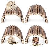 Yesland - Escalera de madera para hámster (4 unidades, 8 × 4 pulgadas)