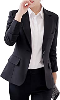 COODIO Women Fashion Slim Long Sleeve Solid Color Jacket-Clothes