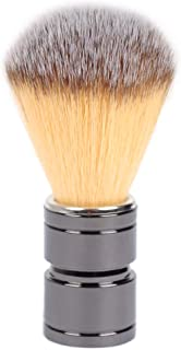 Synthetic Shaving Brushes, JR 0.79inch Synthetic Nylon Brush Hair Knot with Gun Engineered Stainless Iron Handle Shaving Brushes for Men, Traveling, Safety Razor, Double Edge Razor, Shavi