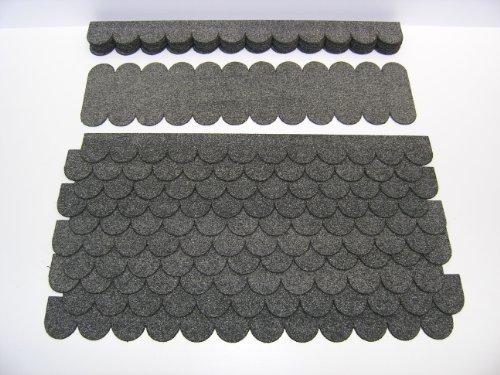 Dachschindeln Rund (41 mm) - Set - Grau 23.401