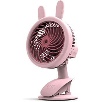 ornerx USB Rechargeable Clip on Desk Fan Bowknot