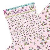 Tischdecke * Schmetterlinge * TapirElla für Party und Geburtstag | 120 x 180cm | Kindergeburtstag Kinder Set Mädchen Rosa Pink Blumen