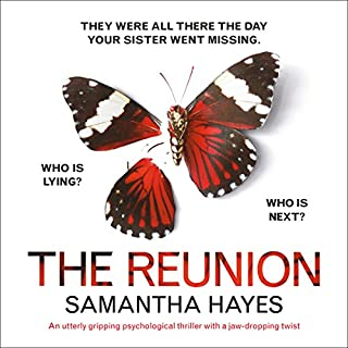 The Reunion                   By:                                                                                                                                 Samantha Hayes                               Narrated by:                                                                                                                                 Karen Cass                      Length: 12 hrs and 24 mins     38 ratings     Overall 4.4
