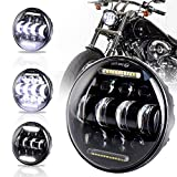 PXPART 5 3/4 LED Headlight with White Halo DRL 66W 5.75inch Harley Headlight