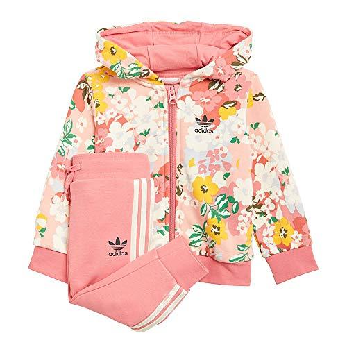 adidas GN2257 Hoodie Set FZ Tuta da Ginnastica Bimba 0-24 Top:Trace Pink/Multicolor/Hazy Rose Bottom:Hazy Rose s21/cream White 1218
