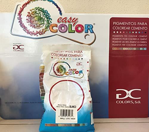 Easy Color pigmento Blanco. Pigmento para cemento, mortero y hormigón. Dióxido de Titanio (TiO2) (Blanco (TiO2))