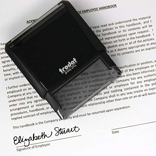 Signature Stamp - Personalized Self-Inking Signature Stamps - Custom Signature Stamp (Black Ink)