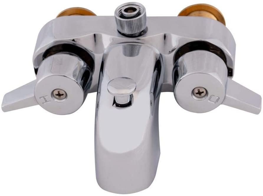 EZ-FLO shipfree 11129 Chrome Two-Handle Bathcock Add-On Shower Diverter Special Campaign