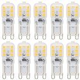10X G9 Bulbo Llevado 2.5W LED de Bombillas 14 SMD 2835LEDs Blanco Cálido 3000K el ahorro de energía Sustitución del Halógeno AC220-240V