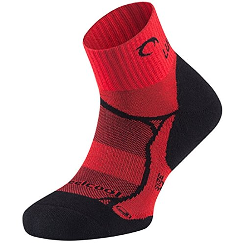 Lurbel Aitana - Calcetines, Unisex, Negro - (Negro/Rojo)