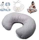 Stillkissen Klein (OEKO-TEX® und TÜV) - Baby Kissen - Verkleinerer Babybett - Breastfeeding Pillow - Schwangerschaftskissen - Ideal für Babybettchen - Bezug aus 100% Baumwolle abnehmbar und waschbar