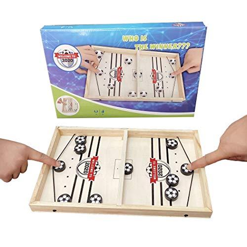 Slingpuck bordspel snelle Winnaar bordspellen voor gezinnen met kinderen, ouder-kind interactieve educatieve bordspellen, mini houten curling hockey