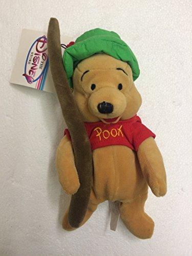 Disney Store Fishing Pooh 8' Mini Bean Bag Plush Doll