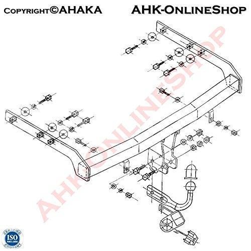 Anhängerkupplung Anhängevorrichtung Hängevorrichtung - starr, mit angeschraubtem Kugelkopf - STV-117 AHAKA
