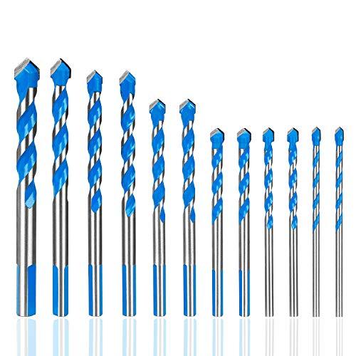 Hakkin 12 Pcs Masonry Drill Bits Set, 1/8