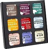 """ducs de gascogne - coffret gourmand """"apéro-terrines"""" - comprend 9 produits - spécial cadeau (901552)"""