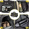 Military Tactical Duffle Bag Gym Bag for Men Travel Sports, Black, Size Middle