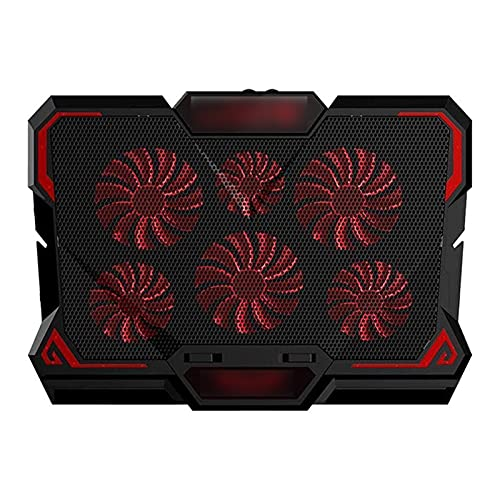 JDJD 17inch Gaming Laptop Cooler Six Fan Two USB Port 2600RPM Laptop Cooling Pad Notebook Stand For Laptop (Color : Colorful)