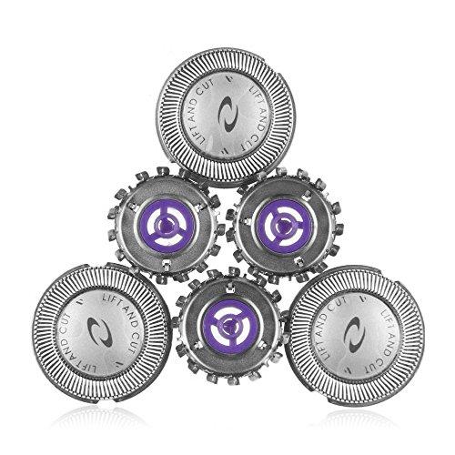 Rasierkopf-Ersatzklingen HQ55 für Philips Philishave HQ6970 HQ6695 HQ6990 PQ202 (3er-Pack) Elektrorasierer, universeller Ersatz Rotationsköpfe, Reinigungsbürste