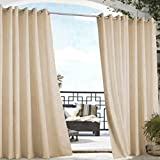 Commonwealth - Panel de cortina para exteriores (50 x 96 cm), color caqui