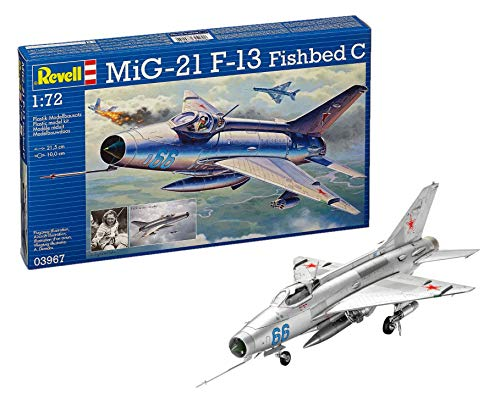 Revell Modellbausatz Flugzeug 1:72 - MiG-21 F-13 Fishbed C im Maßstab 1:72, Level 4, originalgetreue Nachbildung mit vielen Details, 03967