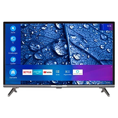 MEDION P13225 80 cm (31,5 Zoll) Full HD Fernseher (Smart-TV, HDR 10, Netflix, Prime Video, WLAN, PVR, Bluetooth, HD Triple Tuner, CI+)