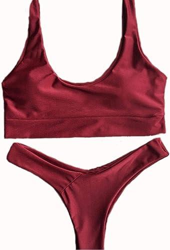 Oudan Maillot de Bain été Bikini pour Femme Bikini décontracté, L (Couleuré   -, Taille   -)