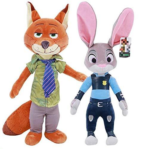 zcm Plüschtier 2pcs 40cm Nettes Zootopia Kaninchen Judy Hopps Plüschtier Puppe Weiche Kuscheltiere Spielzeug Kinder Geschenk