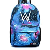 Faded High Capacity Alan Walker Backpack School Bag Bookbag Oxford Bag (Red+Black) (Blue)