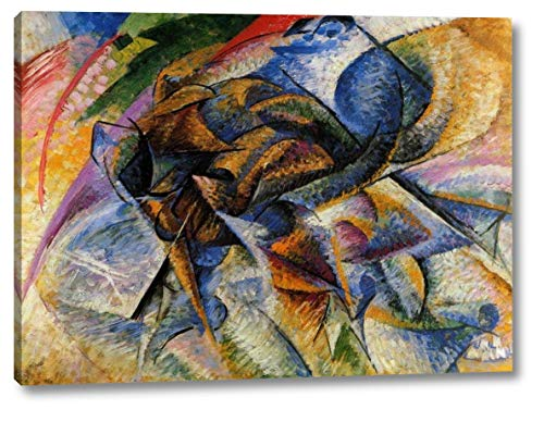 "Dynamism of a Biker by Umberto Boccioni - 12"" x 16"" Gallery Wrap Canvas Art Print - Ready to Hang"