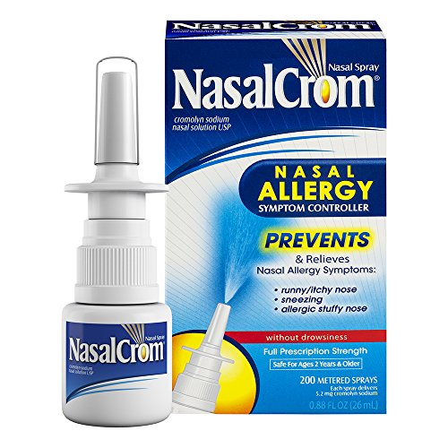 NasalCrom Nasal Spray Allergy Symptom Controller | 200 Sprays | .88 FL OZ