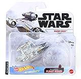 Hot Wheels Starships Star Wars Die-Cast Razor Crest with Flight Stand