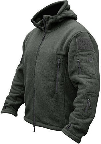 TACVASEN Men's Tactical Fleece Jacket (Large,Gray)