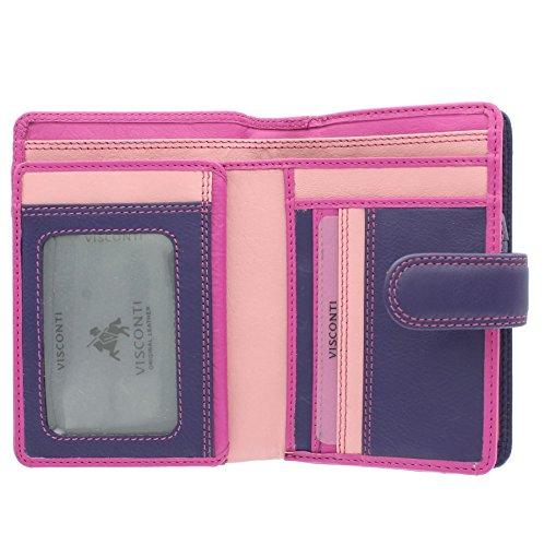 Visconti Rainbow-Kollektion Geldbörse/Geldbeutel, Damen, Leder mit RFID-Schutz RB51 Baya Multi