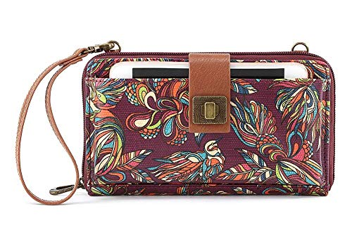 Sakroots Artist Circle Large Smartphone Cross-Body Phone Wallet, Mulberry Treehouse