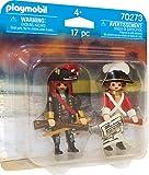 Playmobil Capitaine Pirate et Soldat Multicolor 70273