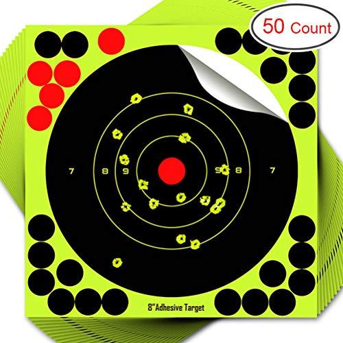 Akemaio 50PCS Auto-adhésif Shotboard réactive Splatter Auto-adhésif de tir Cibles, 8 Pouces Tir Conseil Pratique de tir Autocollants