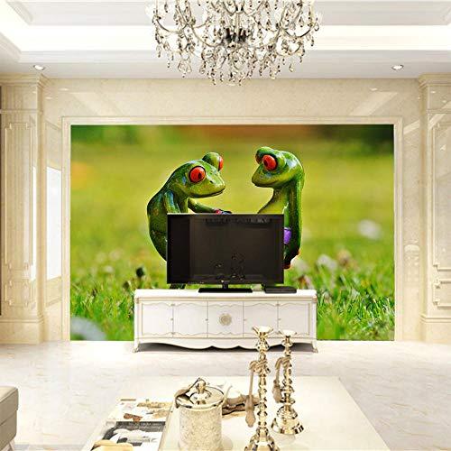 Murales En 3D Rana Fondo De Mural De Pared Sala De Estar Sofá Tv Telón De Fondo Photo Wallpaper-430X300Cm
