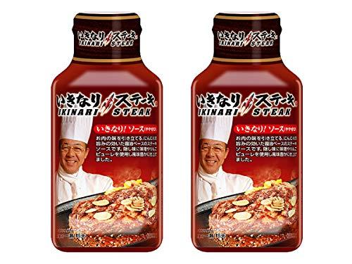 【2本セット】 フードレーベル いきなり ステーキ いきなり!ソース やや甘口 195g × 2本セット