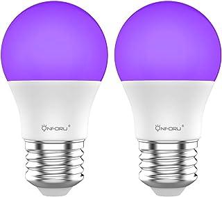 Onforu UV LED Black Lights Bulb, 7W A19 E26 Bulb, UVA Level 385-400nm, Glow in The Dark for Blacklight Party, Body Paint, ...