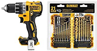 DEWALT 20V MAX XR Brushless Drill/Driver, Compact – Bare Tool (DCD791B) with DEWALT..