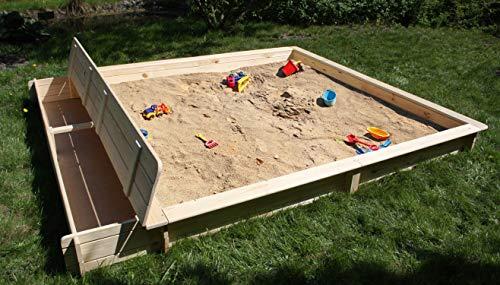 Promadino Sandkasten Yanick mit Sitz-/Staukasten