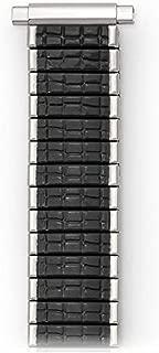 16-19MM Black Silver ROMUNDA Twist O Flex Watch Band Strap