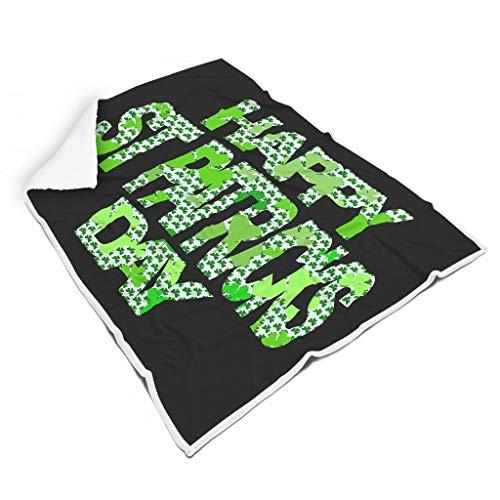 Ainiteey Weich leuchtende Farben Decke für Bett Mikrofaser für Kinder oder Erwachsene Wunderschöner Stil White 150x200cm