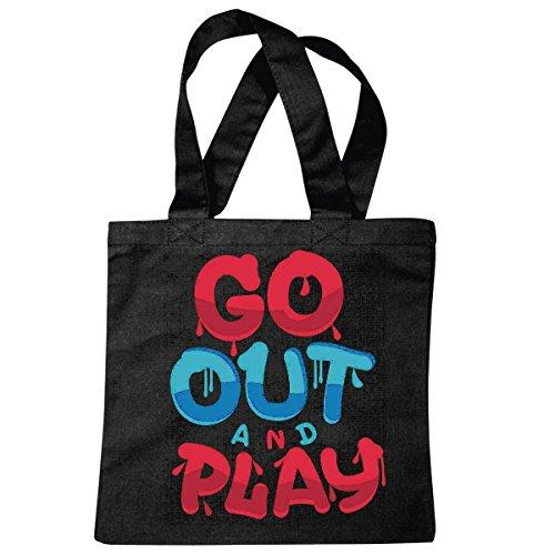 sac à bandoulière GO OUT AND PLAY LIFESTYLE FASHION STREETWEAR HIPHOP SALSA LEGENDARY Sac école Turnbeutel en noir