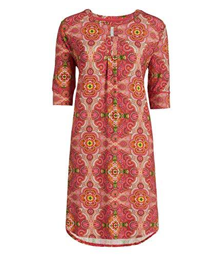 PiP Studio Damen Nachthemd Nightdress 3/4-Ärmel Drew Moon Delight, Farbe:Rot, Wäschegröße:S, Artikel:pink