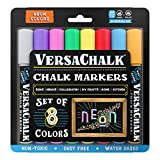 Neon Liquid Chalk Markers for Blackboards by VersaChalk (8 Chalkboard...