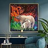 Puzzle 1000 piezas Surrealismo pintura oso polar blanco graffiti animal dibujos animados art deco imagen puzzle 1000 piezas animales Juego de habilidad para toda la familia, c50x75cm(20x30inch)