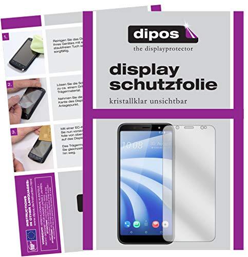 dipos I 2X Schutzfolie klar kompatibel mit HTC U12 Life Folie Bildschirmschutzfolie